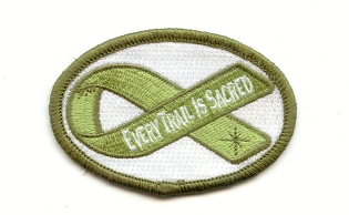 Every trail is Sacred sew on patch